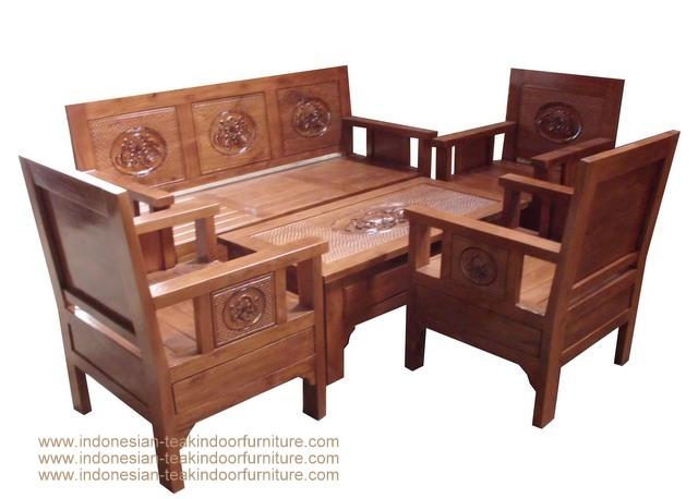 Indonesia Teak Indoor Furniture Sofa Set Hansa Furniture